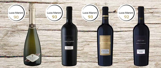 Here the results of the last tasting sections by Luca Maroni: Primitivo di Manduria has mastered!