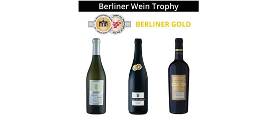 Gold Medal at Berliner Wein Trophy for the new vintages of our wines Conte di Campiano!