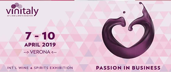 Visit us at Vinitaly in Verona from the 7th to the 12th April 2019
